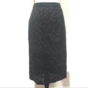 Trina Turk Black Lace Pencil Skirt